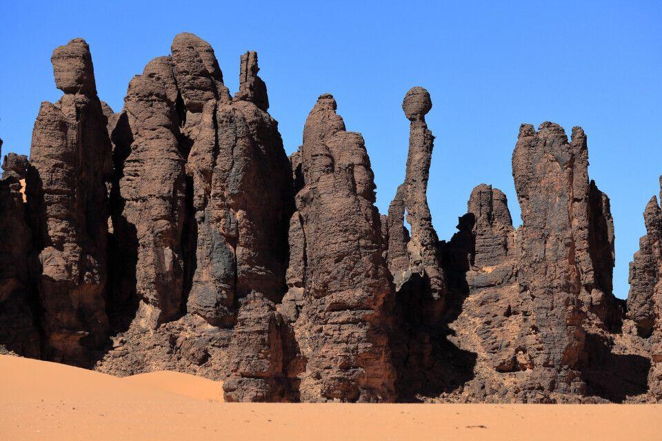 Felstürme aus erodiertem Sandstein