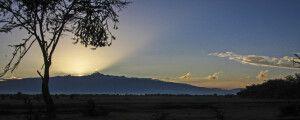 Einzigartige Landschaft des Mount Kenya, zweithöchstes Bergmassiv in Afrika