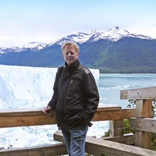 DIAMIR-Tourenleiter Walter Neuwirth am Perito-Moreno-Gletscher
