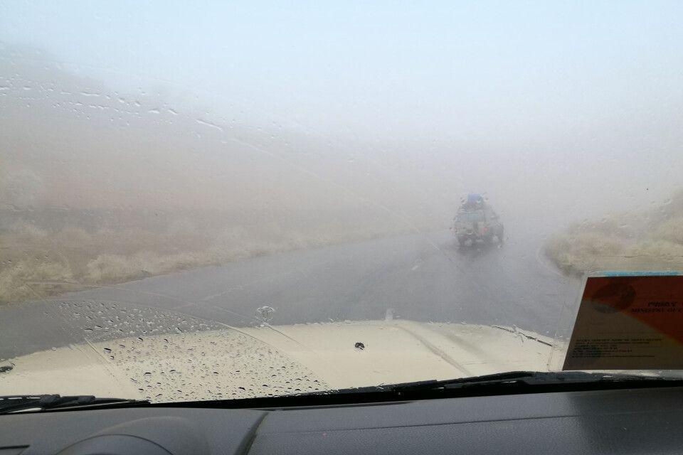 Wetterphänomene - Regen auf der Strecke