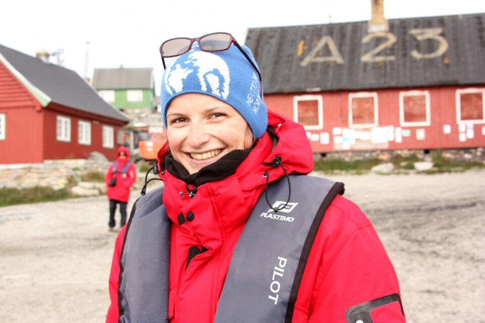 Sylvia Wesser in Südgrönland