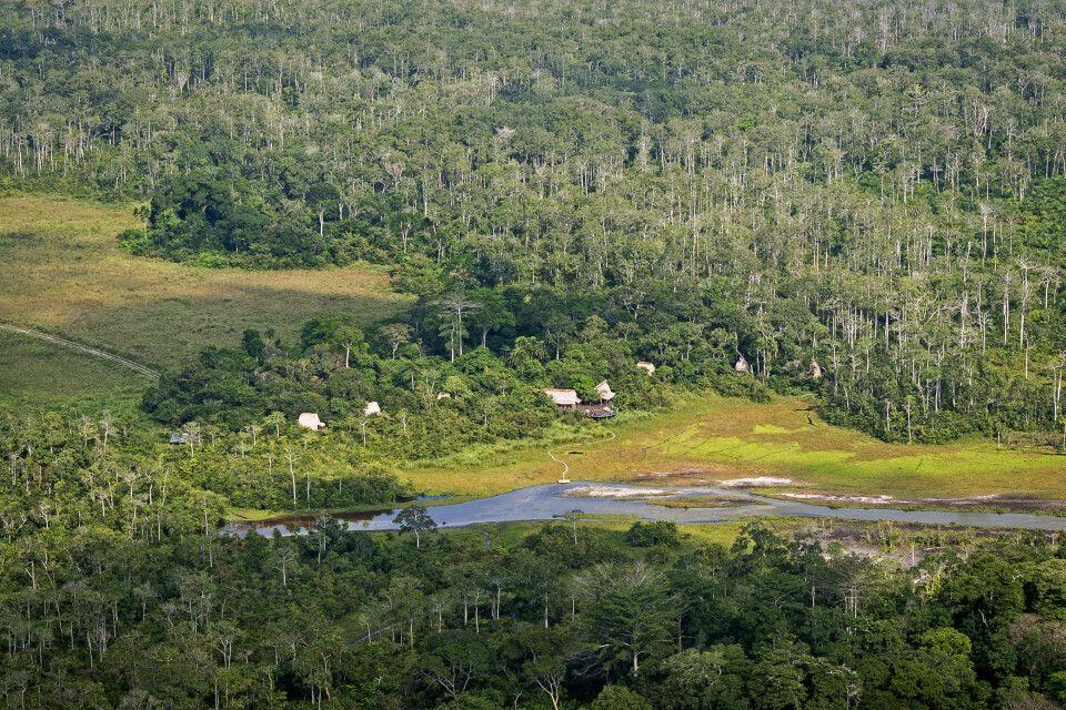 Lango Camp mitten im Regenwald
