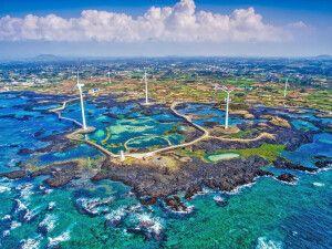 Bucht der Insel Jejudo