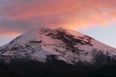 Dämmerungsstimmung über dem Cotopaxi (5897 m)