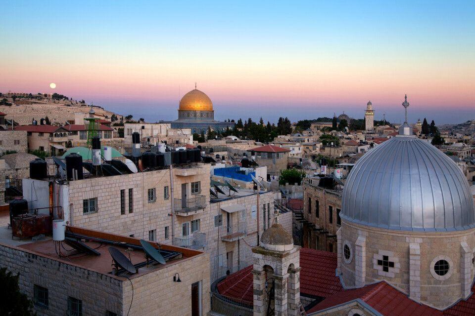 Altstadt von Jerusalem am Abend
