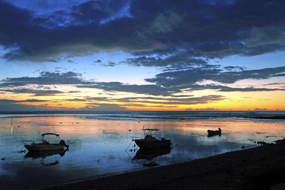 Sonnenuntergang auf der Insel la Reunion