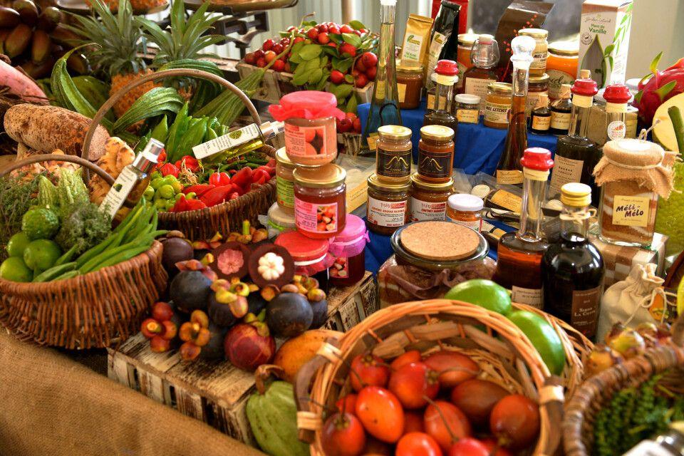 lokale Köstlichkeiten auf dem Markt