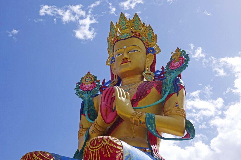 Ladakh Nubra Valley Kloster Diskit mit Buddha Maitreya