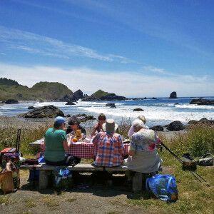 Picknick am Strand, Oregon