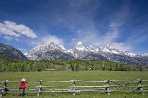Blick auf die Grand Teton Bergkette, Wyoming