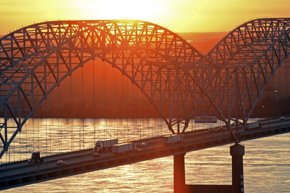 Brücke über den Mississippi, Memphis, Tennessee