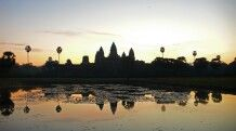Sonnenaufgang am großen Angkor Wat