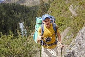Trekker im Altai