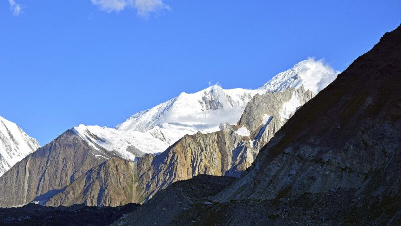 Trekking zum Basislager des Spantik. © Diamir