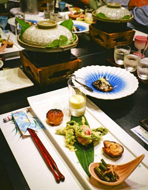 Ryokan Kumanoyu in Kiso - Abendessen