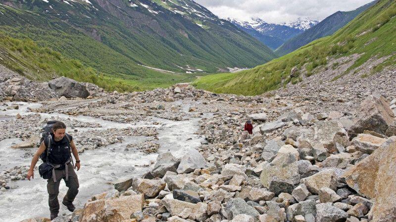 Hoch zum Schachara-Gletscher © Diamir