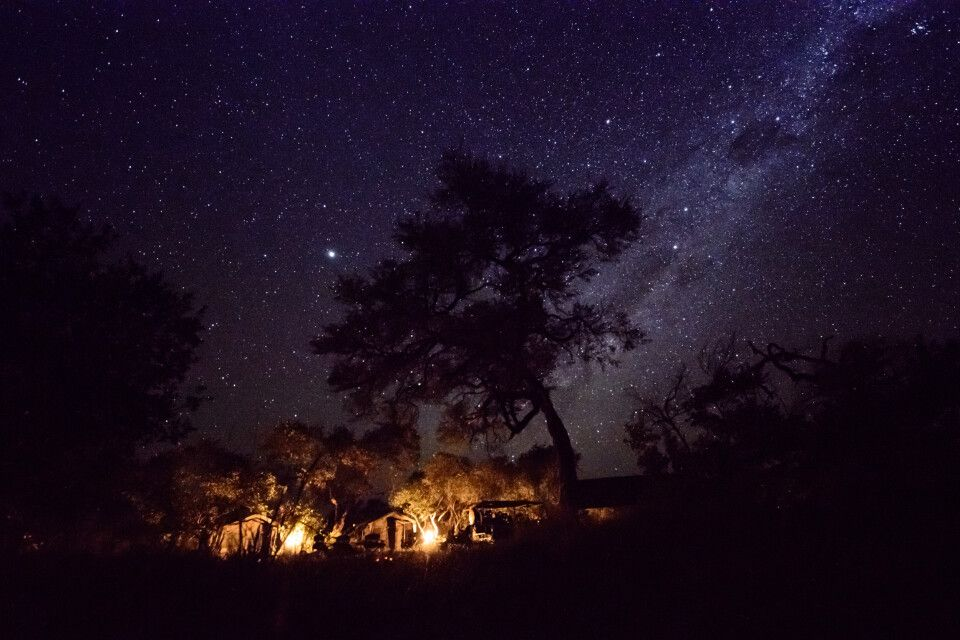 Zeltcamp unterm Sternenhimmel