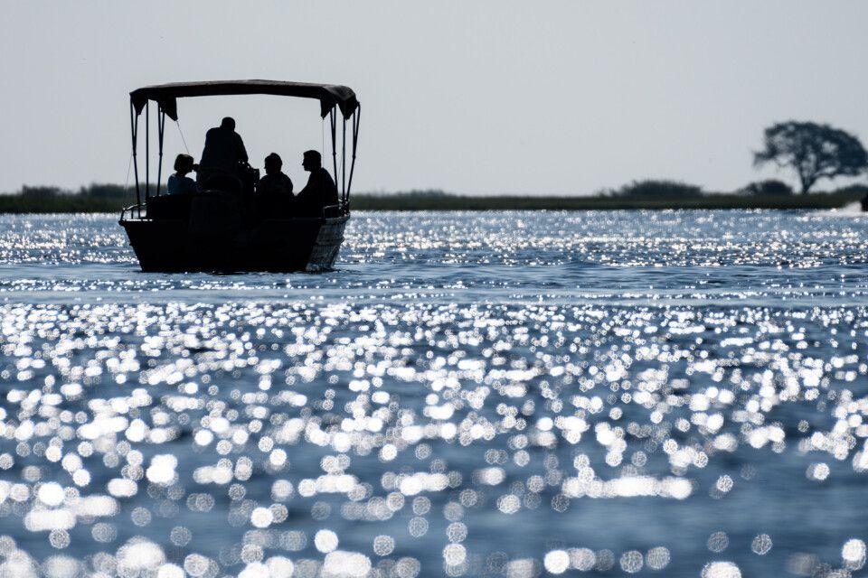 Mit dem Boot unterwegs auf dem Chobe-Fluss