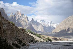 Blick vom Lagerplatz Jhola während des Karakorum-Trekkings.