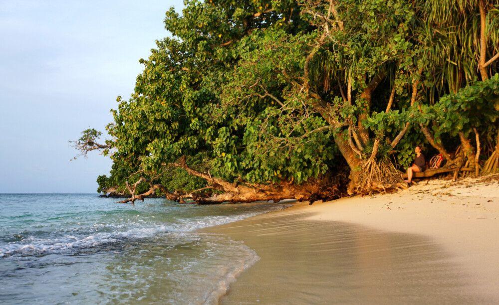 Am Strand auf Fiji