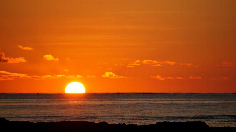 Sonnenuntergang über dem Pazifik © Diamir