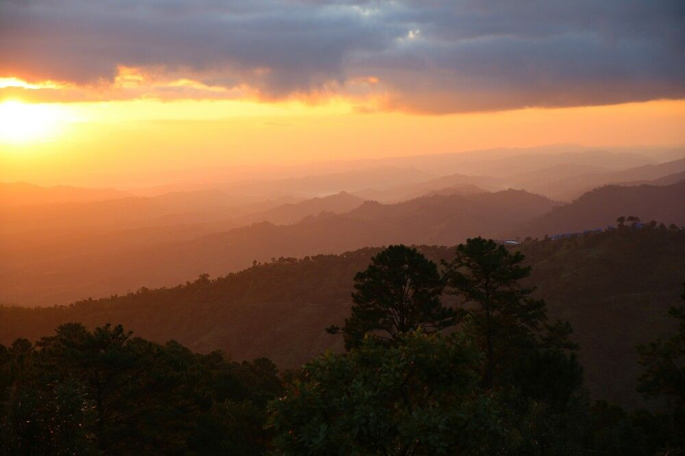 Berge im Staate der Chin