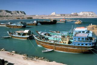 Hafen von Suza auf der Insel Qeshm