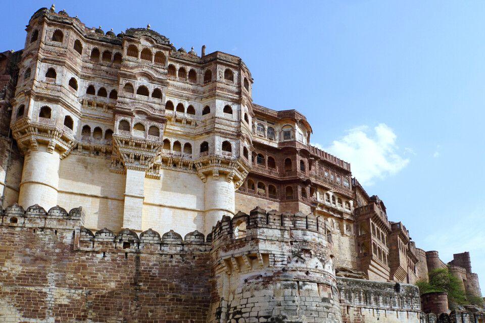 beeindruckende Mehrangarh-Festung in Jodhpur
