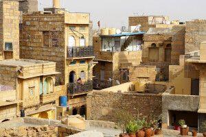 Wohnhäuser in der Festung von Jaisalmer