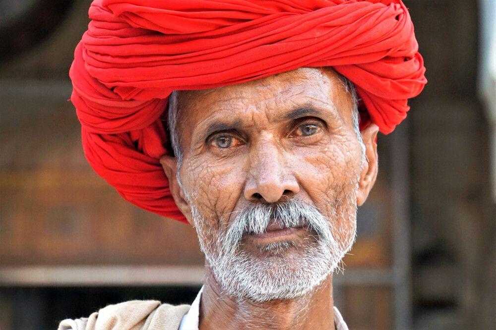 Rajasthan Porträt Mann
