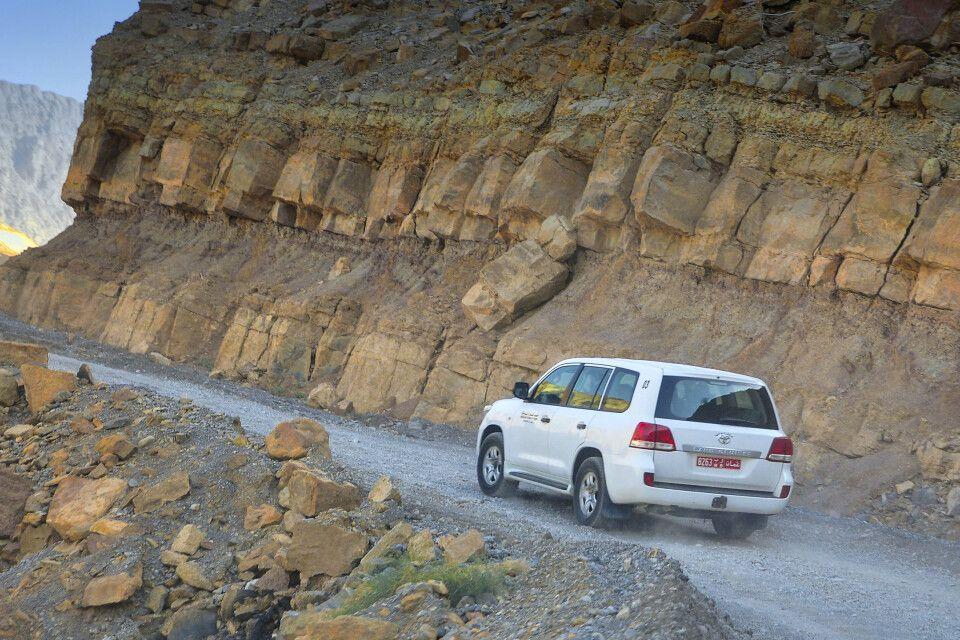 Fahrt ins Hadjar-Gebirge