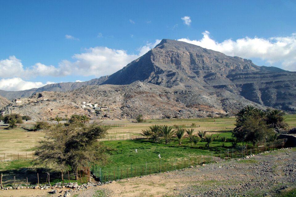 Landschaftsbild auf der Halbinsel Musandam