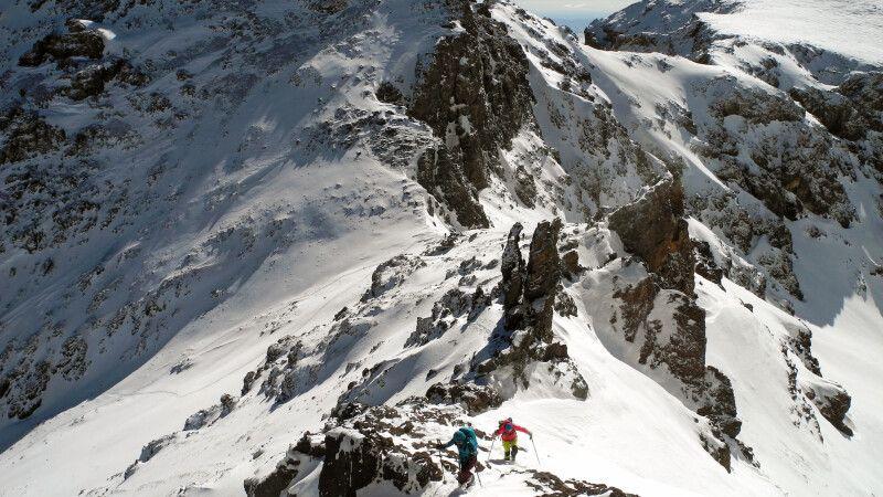 Die letzten Meter am Ras ohne Ski. © Diamir