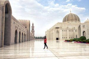 prunkvolle Sultan Qaboos Moschee in Maskat