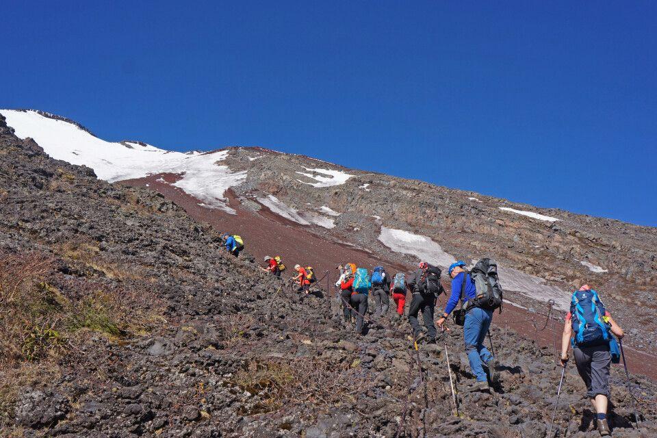 Besteigung des Fuji-san im Mai