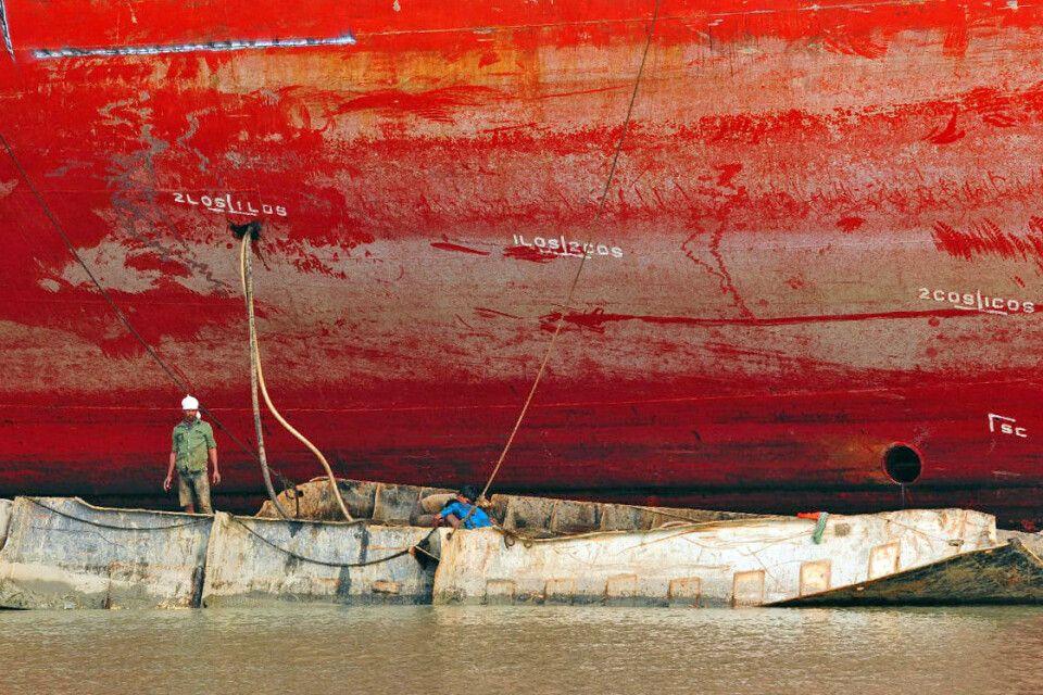 Chittagong Überseehafen Arbeiter