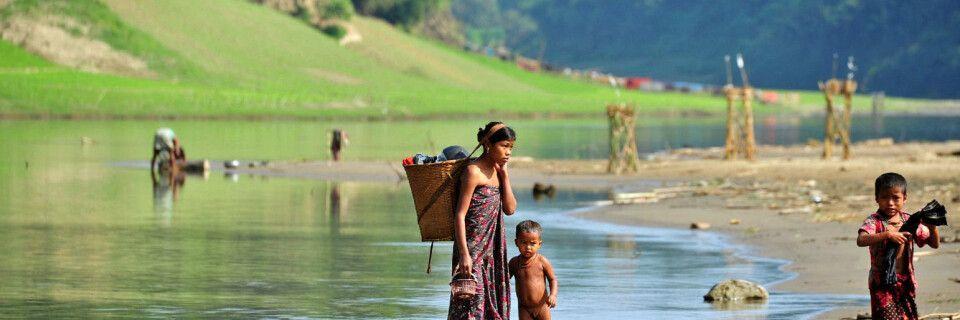 Indigene Dörfer bei Bandarban