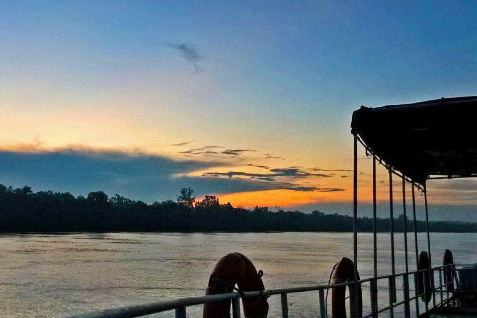 Sonnenuntergang Sundarbans Bootsfahrt