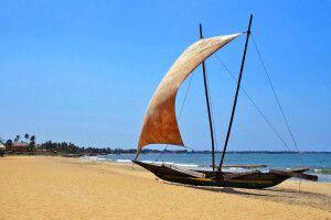 Westküste oberhalb Negombo Fischerboot