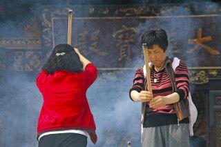 Ahnenverehrung nahe der Großen Wildganspagode in Xian