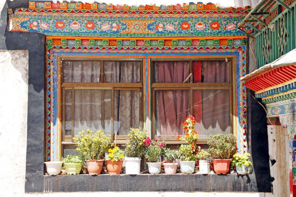 Blumenarrangement in Lhasa