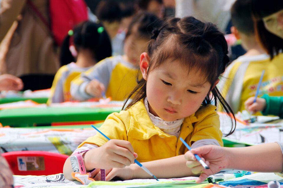 Mädchen in Xian