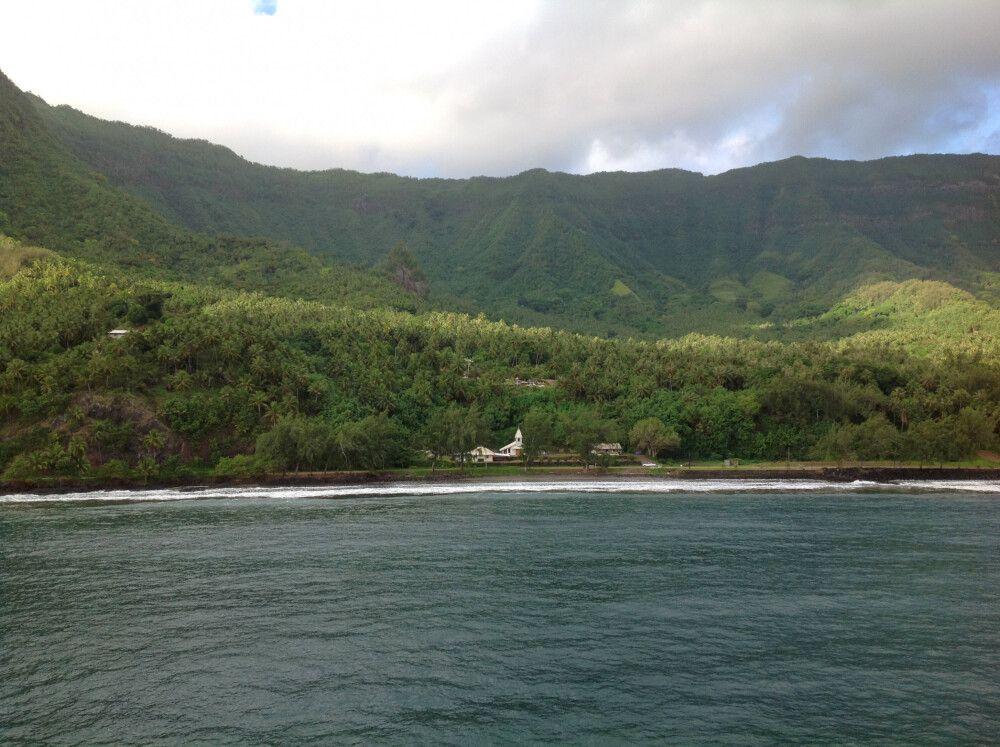 Dramatische Szenerie Polynesiens