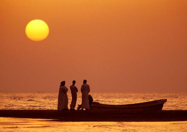 Sonnenuntergang im Oman