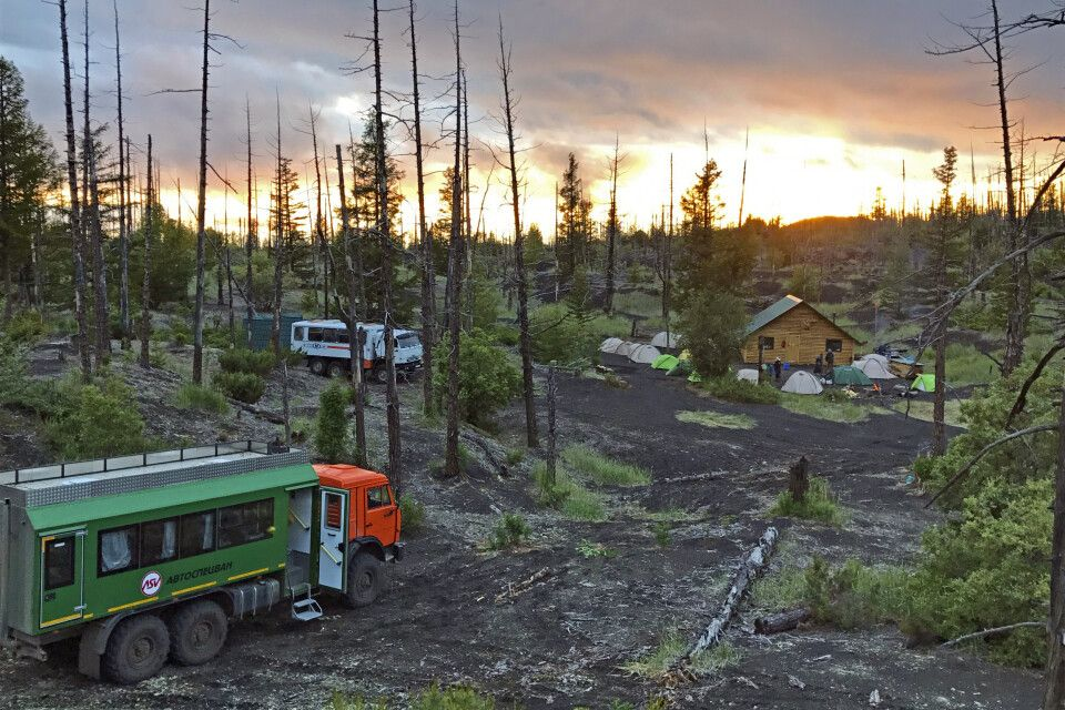 Lager im Toten Wald am Tolbatschik