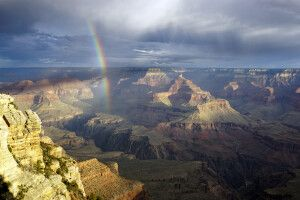 Regenbogen am Grand Canyon, Arizona
