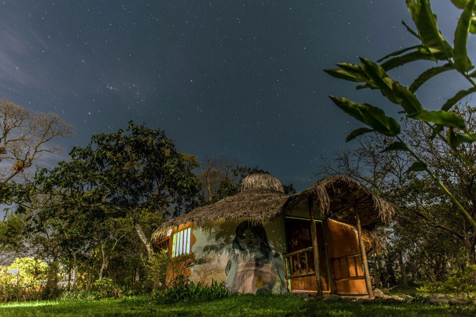 Traumhafter Nachthimmel über der Finca El Maco