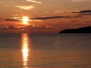 Baikalsee bei Sonnenuntergang
