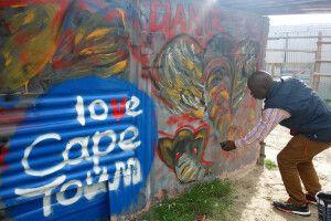 Südafrika - Graffiti in Kapstadt Khayelitsha