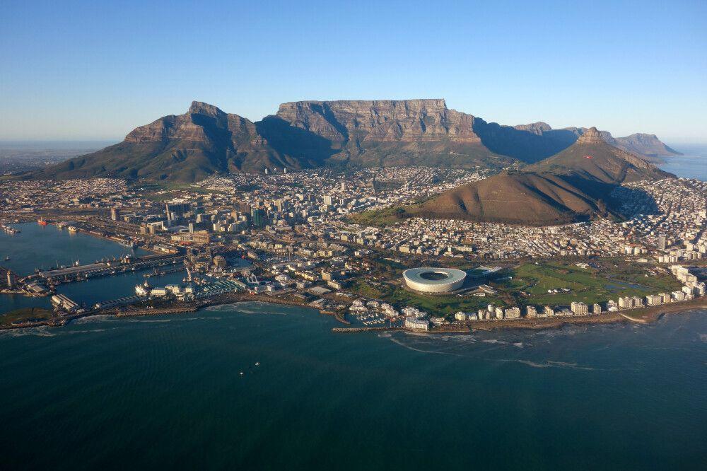 Südafrika – Helicopterflug mit Blick auf Kapstadt
